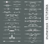 set of l decorative... | Shutterstock .eps vector #527192866