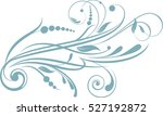 floral background with... | Shutterstock .eps vector #527192872