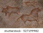 figure animals on the rock wall ... | Shutterstock . vector #527199982