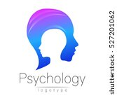 modern head logo of psychology. ... | Shutterstock .eps vector #527201062