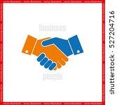 handshake icon vector... | Shutterstock .eps vector #527204716