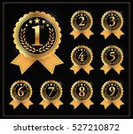 award golden label of first ... | Shutterstock .eps vector #527210872