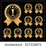 award golden label of first ... | Shutterstock .eps vector #527210872