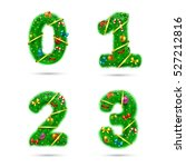 fir tree font numbers.... | Shutterstock .eps vector #527212816