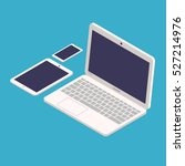 flat icons of laptop  tablet...   Shutterstock .eps vector #527214976