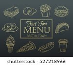 vector hand drawn icons fast... | Shutterstock .eps vector #527218966