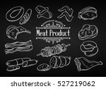 set hand drawn monochrome icon... | Shutterstock .eps vector #527219062