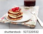tasty dessert with jam and... | Shutterstock . vector #527220532