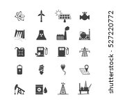 energy resources icon set .... | Shutterstock .eps vector #527220772