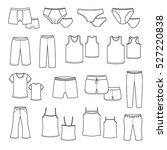 set clothing shape.   Shutterstock .eps vector #527220838