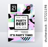 invitation disco party poster... | Shutterstock .eps vector #527221198