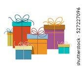 gift boxes. vector present box... | Shutterstock .eps vector #527227096