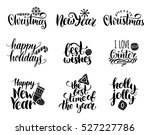 vector handwritten christmas... | Shutterstock .eps vector #527227786