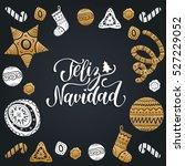 vector feliz navidad ... | Shutterstock .eps vector #527229052