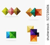 Vector Blank Abstract Squares...