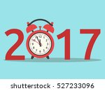 happy new year 2017 with red... | Shutterstock .eps vector #527233096
