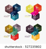 vector business geometric... | Shutterstock .eps vector #527235802