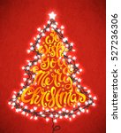 we wish you a merry christmas... | Shutterstock .eps vector #527236306