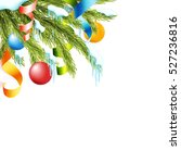 realistic christmas background... | Shutterstock .eps vector #527236816