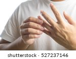man take off his wedding ring... | Shutterstock . vector #527237146