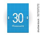 30 years anniversary logo... | Shutterstock .eps vector #527237272
