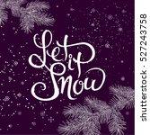 merry christmas.seasonal  hand... | Shutterstock . vector #527243758