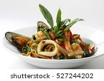 stir fried spicy spaghetti... | Shutterstock . vector #527244202