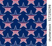 american stars seamless pattern.... | Shutterstock . vector #527250298