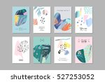 set of creative universal... | Shutterstock .eps vector #527253052