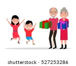 vector illustration cartoon... | Shutterstock .eps vector #527253286