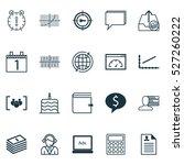 set of 20 universal editable... | Shutterstock .eps vector #527260222