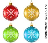 color christmas decoration with ... | Shutterstock .eps vector #527273572