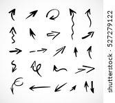 hand drawn arrows  vector set   Shutterstock .eps vector #527279122