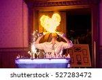 bartender performance  burning... | Shutterstock . vector #527283472
