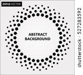 black abstract halftone logo... | Shutterstock .eps vector #527283592