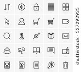 web site icons | Shutterstock .eps vector #527292925