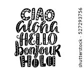 hello in different languages.... | Shutterstock .eps vector #527293756