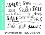 hand lettered sale value pack