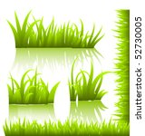 vector grass | Shutterstock .eps vector #52730005