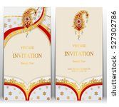 indian invitation card  pattern ...   Shutterstock .eps vector #527302786