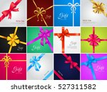 big collection of various gift... | Shutterstock .eps vector #527311582