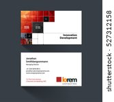 vector business card template... | Shutterstock .eps vector #527312158