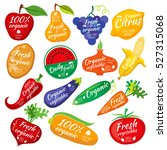 fruit and vegetables color... | Shutterstock .eps vector #527315068