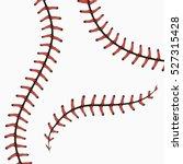 baseball stitches  softball... | Shutterstock .eps vector #527315428