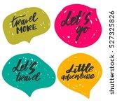 adventure lettering. vintage... | Shutterstock .eps vector #527325826