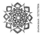black insulated mandala. sketch.... | Shutterstock .eps vector #527327806