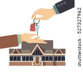 selling and buying house real... | Shutterstock .eps vector #527327962