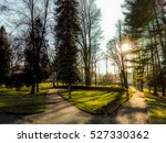 park in city | Shutterstock . vector #527330362