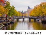 city view of amsterdam canals... | Shutterstock . vector #527331355