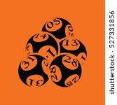 lotto balls icon. orange... | Shutterstock .eps vector #527331856
